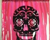 Melted Crayon Art - Sugarskull