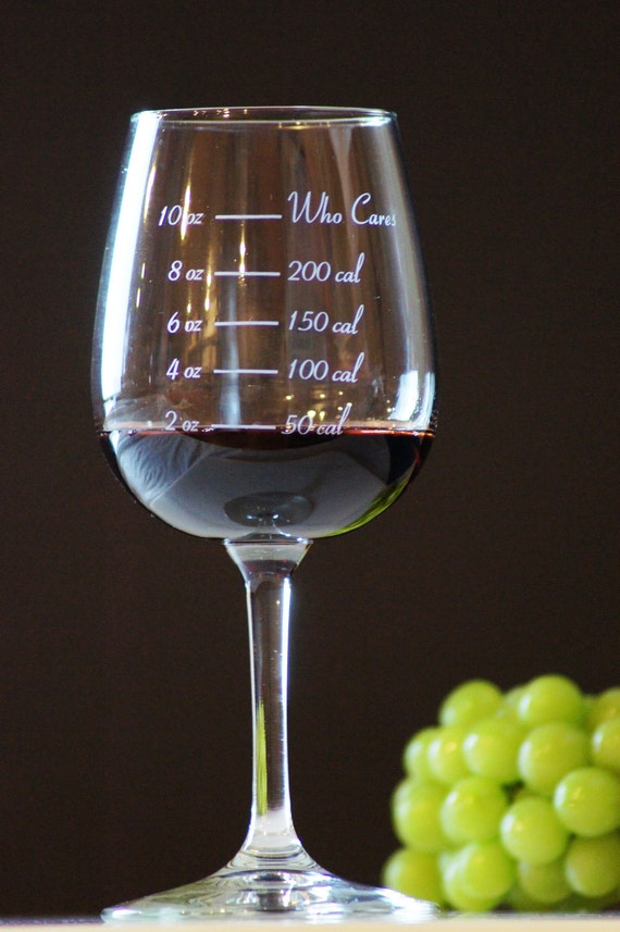 Caloric Cuvee: The calorie counting wine glass - weight loss - portion control - who cares wine glass