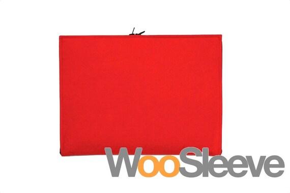Amazon Kindle Fire Sleeve, Kindle Keyboard 3G Sleeve, Galaxy Tab 2 7.0 Sleeve, 7-inch tablet sleeve case -- Zipper Style Red Wool Felt