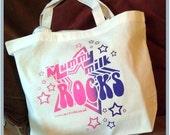 Mummy Milk Rocks - Big Organic Shopping Bag