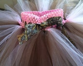 Mossy Oak Ribbon on a Pink and Brown grow w/me tutu