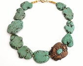 Turquoise Scarab Necklace -  Angelique