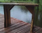 Natural shape Cedar Side Table