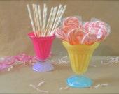 Ice Cream Sundae Cups, Color-Block, Set of 2