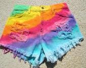 Levi's Rainbow High Waisted Shorts
