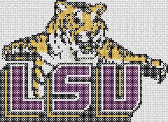 Stitch Tigers Cross ONLY Pattern LSU
