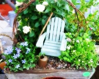 charming beachy coastal miniature adirondack chair