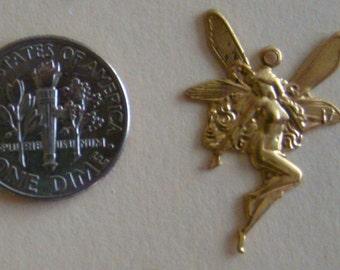 10 Brass Fairy Charms