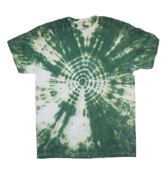 CLEARANCE: Adult Medium Forest Green Bullseye Tie Dye Spiral Shirt