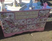 AMAZING FLORAL shabby chic DRESSER