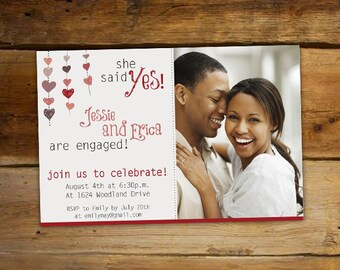 Engagement Party Invitation - She Said Yes