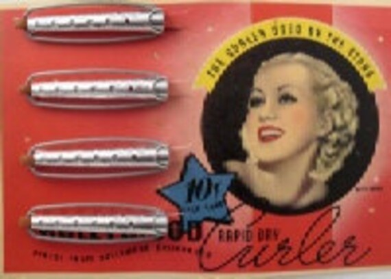Vintage Wave Curlers made in the 1950's in the USA. Per Card