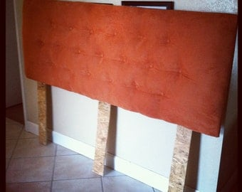KIng Size Orange Suede Headboard