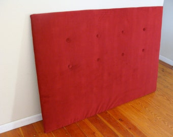 Red Velvet Tuft Headboard for tammy