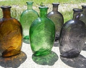 Americana colored glass bottles
