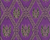 Imported African Fabric Purple Fat Quarter Cotton Fabric