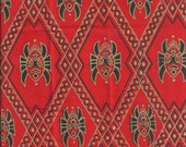 Imported African Fabric Red Fat Quarter Cotton Fabric