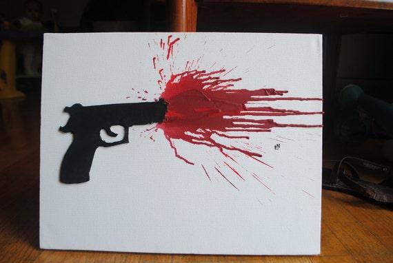 gun shot splatter