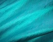 "Lagoon Blue dupioni silk - 54"" wide"