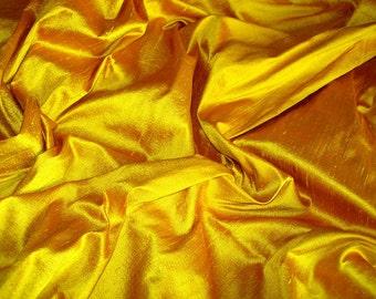 "Saffron dupioni silk - 54"" wide"