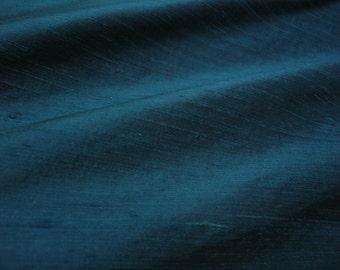 "Atlantic Blue dupioni silk - 54"" wide"