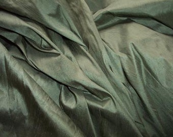 "Sage dupioni silk - 54"" wide"