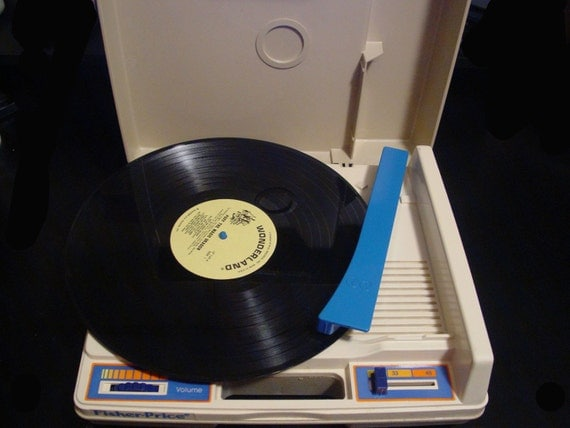 1978 Vintage Fisher Price Children's Turntable / Record Player in Perfect Working Condition