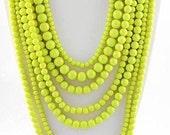Layered Lime Necklace