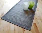 Table runner GRATING on Davy's grey / original design eco-friendly printing /53x13in 135x34cm