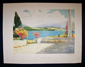 Original Hand Colored Etching and Aquatint by Isidore Rosenstock Pencil Signed