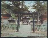 1920s Japanese Temples in Nikko 3 Hand Colored Photographs from the Estate of M.A. McDowell