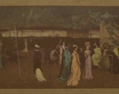 "1909 Vintage Lithograph ""Cremorne Gardens"" by James McNeill Whistler Printed in The Studio Magazine"