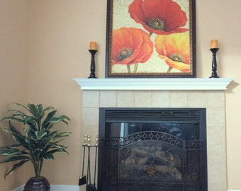 crown molding fireplace. FREE SHIPPING  Custom 48 60 72 Lengths White Fireplace Mantel Shelf with Crown Molding
