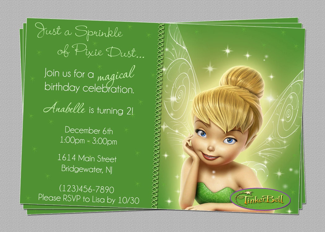 Tinkerbell Invitation Templates are Cool Ideas To Create Perfect Invitations Ideas