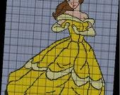 Disney Princess Belle Afghan: Dancing Belle