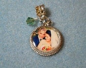 Personalized  Photo Charm for Pandora style bracelet / Mother / Grandmother / Bridal / Baby / Shower / Gift / Victorian Style