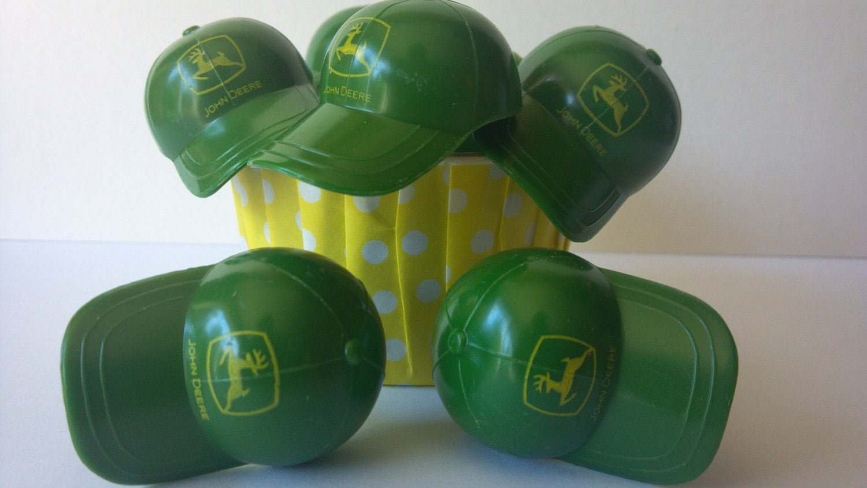 Green John Deere Tractor Hat Cap Cupcake By AisforApronStrings