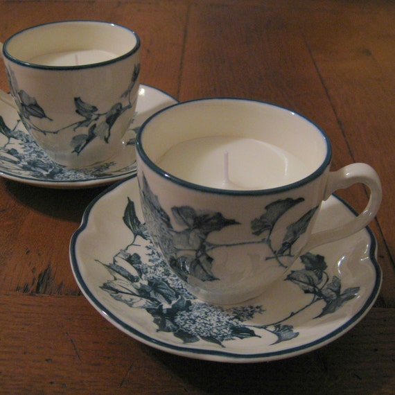 2 Teacup Candles With Soy Wax