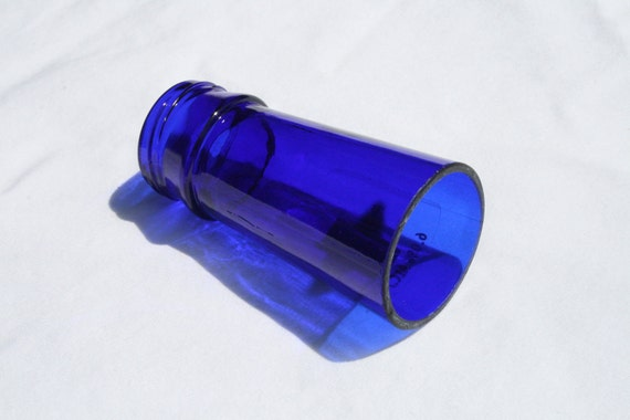 cobalt blue bottleneck slide for guitar dobro resonator. Black Bedroom Furniture Sets. Home Design Ideas