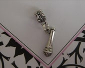 MICROPHONE Dangling Bead Charm - European Bead - Fits Pandora Brighton Chamilia Troll Biagi