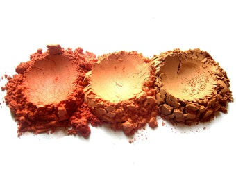 3pc WARM SUNSET Mineral Blush Set