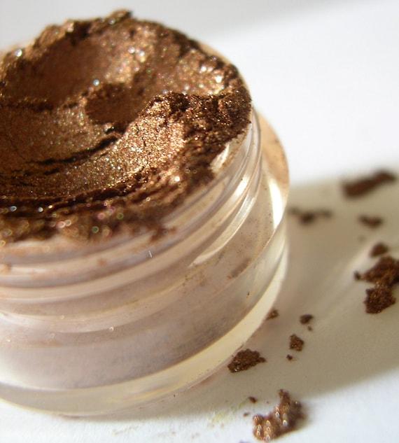 Mineral Eyeshadow - Bronze Brown Eye Shadow Makeup - Shimmer or Matte - BRONZE