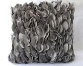 Flower Bud Puff Pillow Cover