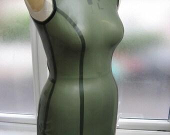 Sheath Latex Mini Dress. SALE