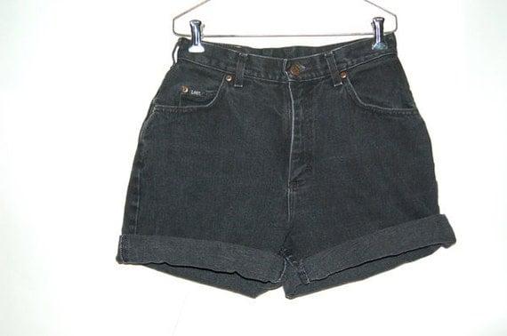 RESERVED For Misty Kim Vintage Lee Black High Waisted Shorts