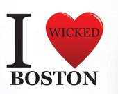 Tshirt I WICKED (heart) BOSTON, size: MEDIUM