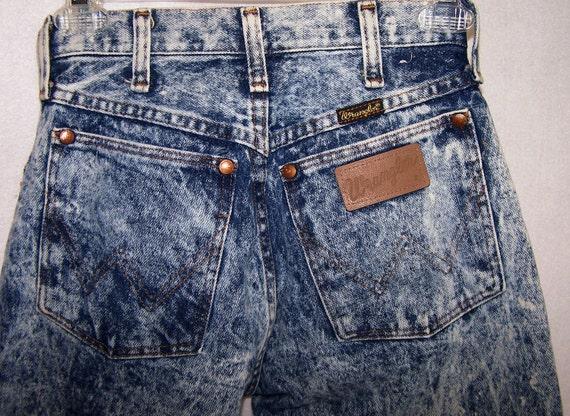 clearance vintage 80's acid washed Wrangler jeans Size 5 women's