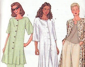 Butterick 3090 Sewing Pattern Duster, Slacks Patterns Size 14-16-18 Wardrobe tunic slacks
