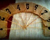 Burlap Wedding or Event Table Numbers