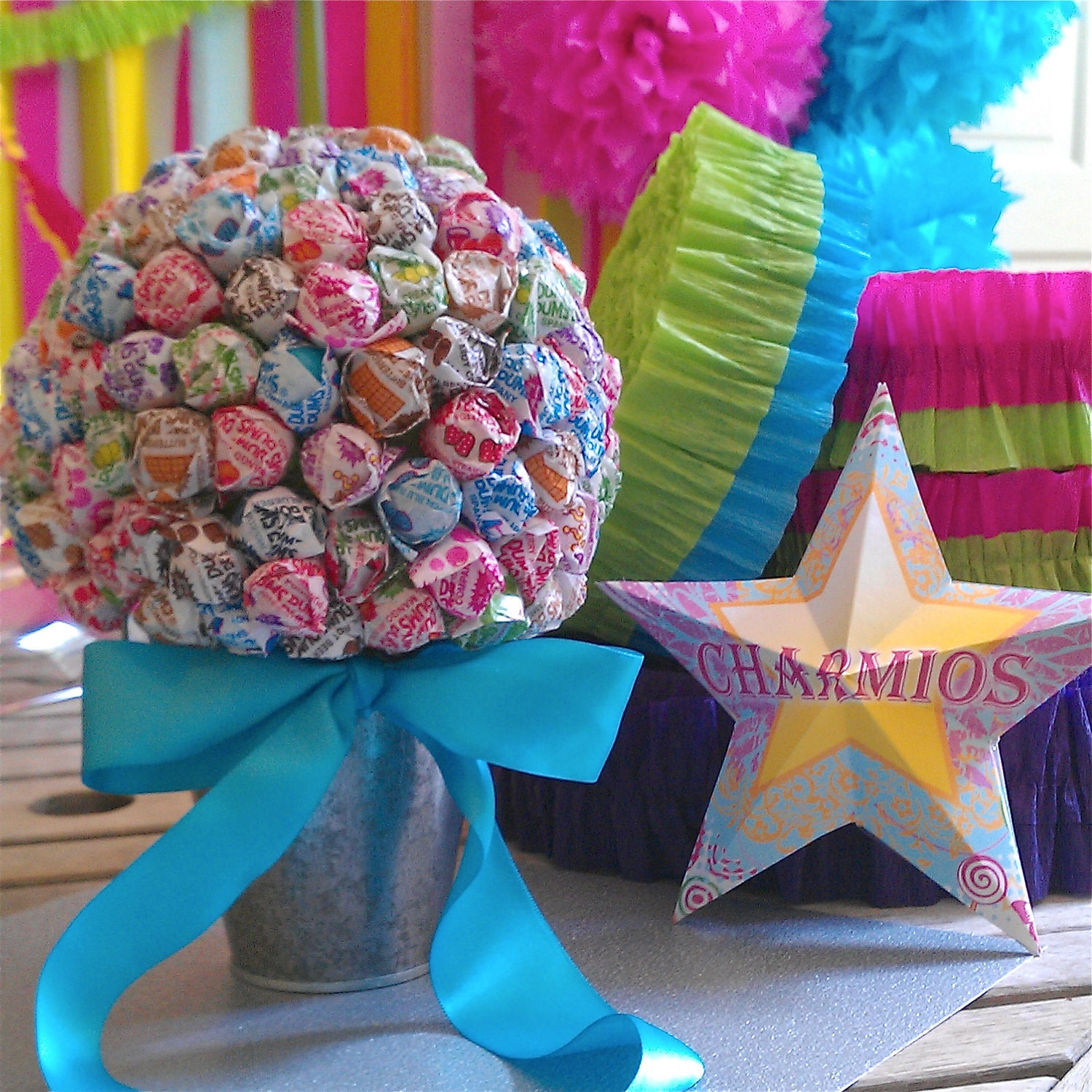 Lollipop bouquet candy birthday by charmioscraftparty